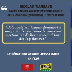 Le débat BBC Afrique - Africa Radio - Nicolas Tiangaye