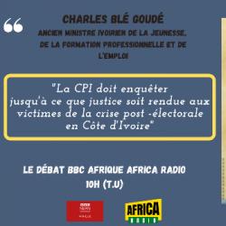 Le débat BBC Afrique - Africa Radio - Charles Blé Goudé