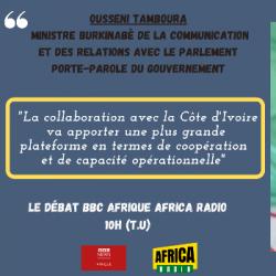 Le débat BBC Afrique - Africa Radio : Ousseni TAMBOURA