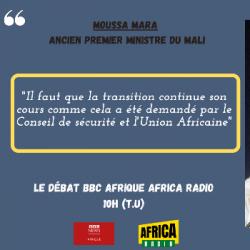 Le débat BBC Afrique - Africa Radio - Moussa Mara