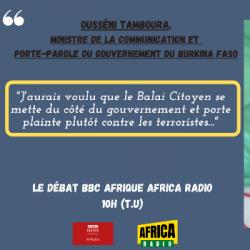 Le débat BBC Afrique - Africa Radio - Ousseni TAMBOURA